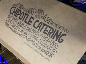 top of our Chipotle box