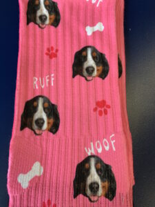 Socks with my dog's face on them